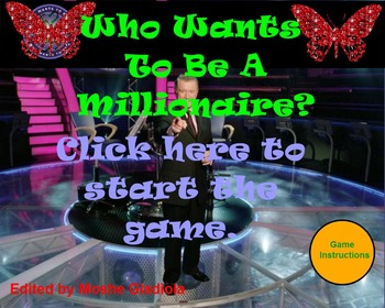 template in English -Who Wants to be a Millionaire