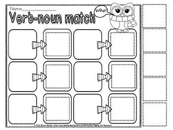 template- noun and verb sort