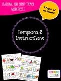 TEMPORAL CONCEPTS TEMPORAL DIRECTIONS worksheets before and after