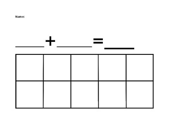 ten frame addition page