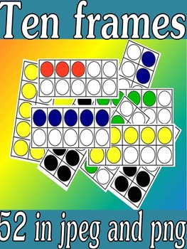 ten frame clipart (these frames are perfect for worksheets,task cards etc)