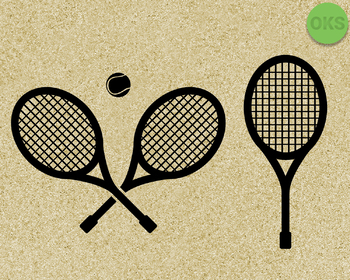 tennis racket SVG cut files, DXF, vector EPS cutting file instant download