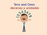 tens and ones/ decenas y unidades jeopardy