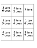 tens and ones memory game