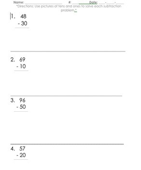 tens and ones subtraction