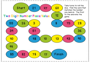 tens and units board game