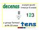 tens/decenas prim 1-way blue/verde