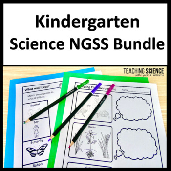 Kindergarten Science NGSS Year Long Bundle