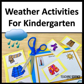 Weather Activities for Kindergarten NGSS K-ESS2-1 and K-ESS3-2