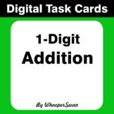 Digital Task Cards: 1-Digit Addition