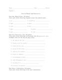 test/quiz on plurals and possessives