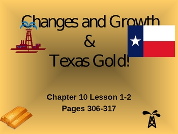 texas- Changes and growth and texas oil- 4th grade TEKS