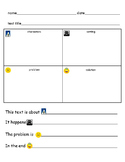 text elements graphic organizer for English language learners