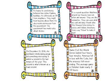 text evidence task cards