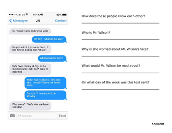 text message inferences