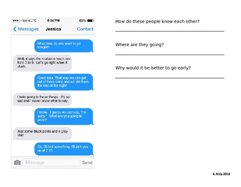 text message inferences part 1