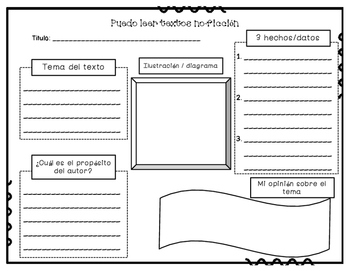 textos informativos/no ficcion - nonfiction/informational texts