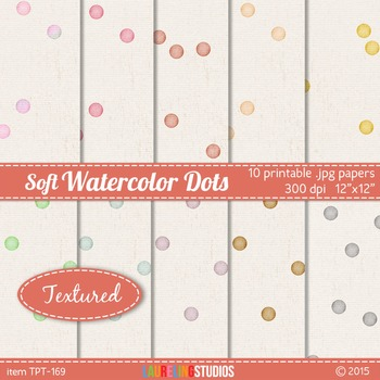 textured digital paper with look of painted watercolor confetti dots