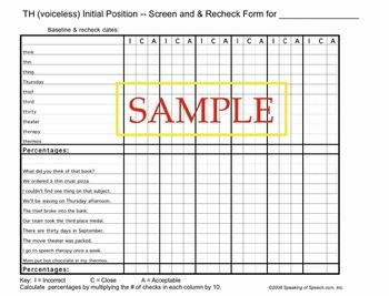 /th/ Artic-U-Checks data forms for baseline & progress monitoring