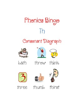 """th"" Consonant Digraph Bingo"