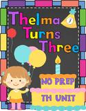 th Digraph No Prep Packet (Thelma Turns Three)