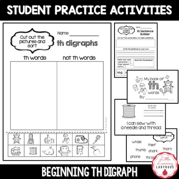 Beginning /th/ Digraph Pack