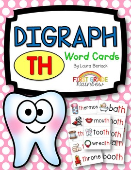 th Digraph Word Cards