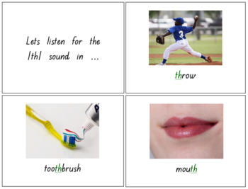 th Digraph - Double Sided Flash Cards, Posters & PowerPoint