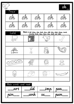 th ch sh wh  DIGRAPHS INDEPENDENT phonics pack  VIC MOD CURSIVE