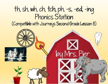 th, sh, wh, ch, tch, ph, -s, -ed, -ing (Compatible Journeys 2nd Gr. Lesson 8)