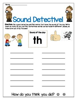 th sound Write The Worksheet