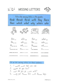 th wh digraphs