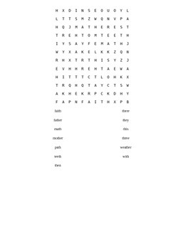 th words word find