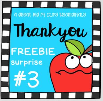 Thank You FREEBIE SURPRISE #3 (P4 Clips Trioriginals Clip Art)