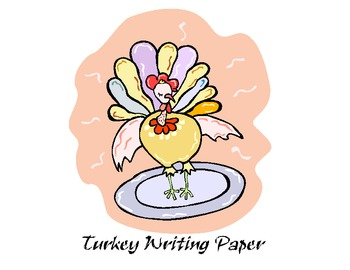 thanksgiving turkey writing paper with cover