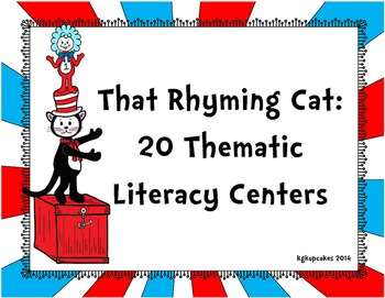 that rhyming cat: 20 thematic literacy centers