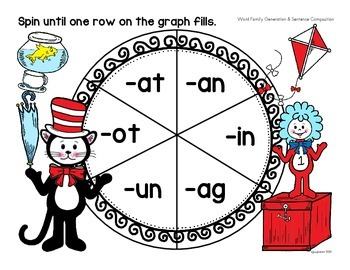 that rhyming cat: word family spinner