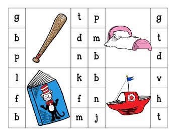 that rhyming cat_beginning and ending sound clip cards + bonus