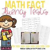 Addition and Subtraction Math Fact Fluency Tests