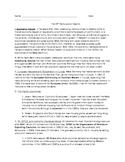 the 20th Century and Beyond- Global History notes/reading/outline