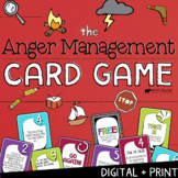 ANGER MANAGEMENT CARD GAME: Counseling Game about Anger Triggers & Coping Skills