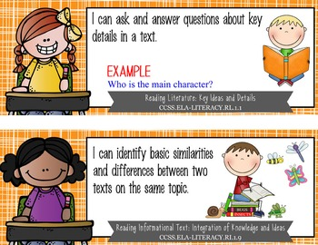 "the BRAINY BUNCH - 1st Grade Common Core Standards ""I CAN"" format / posters"