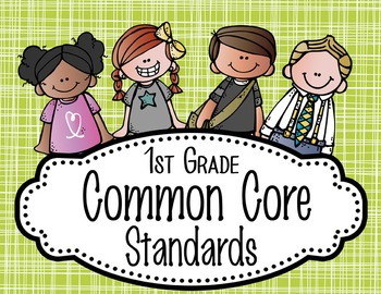 "the BRAINY BUNCH - 1st Grade Common Core Standards ""I CAN"""
