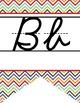 the BRAINY BUNCH - Alphabet Banner, handwriting, A to Z, D'Nealian cursive font