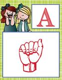 the BRAINY BUNCH  - Alphabet Flag Banner, SIGN LANGUAGE