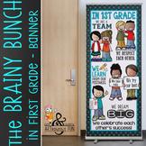 the BRAINY BUNCH - BANNER - LG - In 1st Grade {melonheadz}