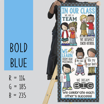 the BRAINY BUNCH - BANNER - LG - In Our CLASS {melonheadz} BOLD blue