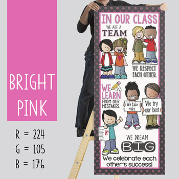 the BRAINY BUNCH - BANNER - LG - In Our CLASS {melonheadz} BRIGHT pink