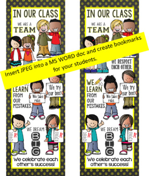 the BRAINY BUNCH - BANNER - LG - In Our CLASS {melonheadz} BRIGHT yellow