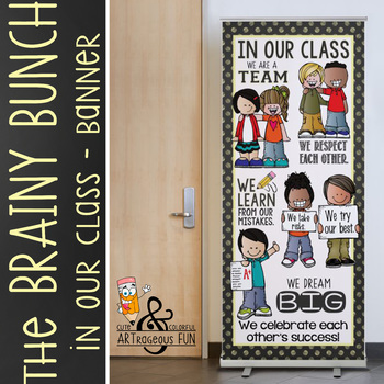 the BRAINY BUNCH - BANNER - LG - In Our CLASS {melonheadz} PASTEL yellow